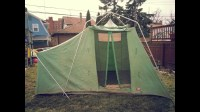 Vintage Sears canvas Tent - 3-24-2013 - YouTube
