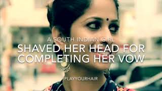 Temple Headshave | Beautiful South Indian Girl