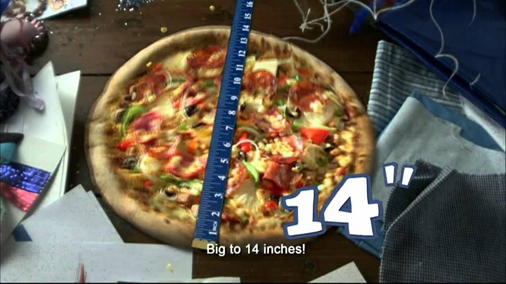 Pizza Hut 14 inches Pizza CM - YouTube