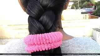 Summer Folded Braid for Very long Hair | Folded Braid | Summer Hairstyle