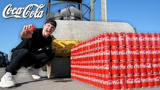 1000 CANS OF COKE vs ROAD ROLLER!! (COCA COLA vs ROAD ROLLER EXPERIMENT)
