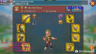 Lords Mobile Rally Trap RaKa Vs K308 345 319 236- fear ME or Not!