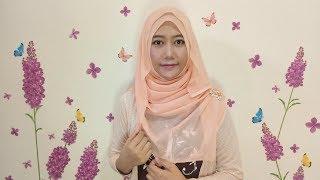 Tutorial Hijab Segi Empat Untuk Lebaran Tanpa Ciput