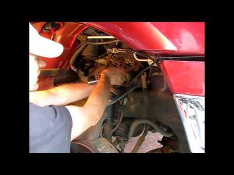 Club Car Solenoid Wiring Diagram Removing The Starter From A 2000 5 4l Ford F150 Youtube