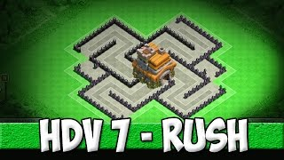 Village HDV 7 / Efficace pour monter en Trophées / Clash of Clans