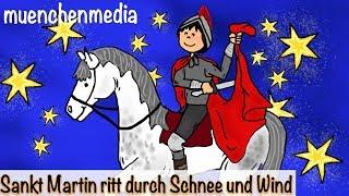 Sankt Martin ritt durch Schnee und Wind - Kinderlieder deutsch   Laternenlied   Sankt Martin Lied