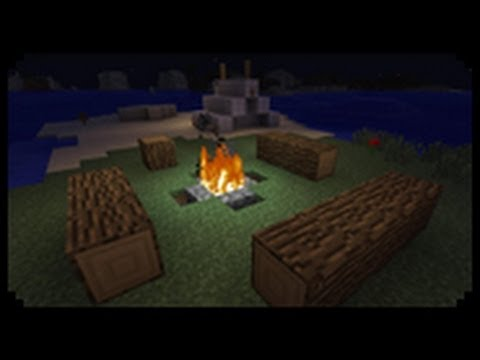 Minecraft How to make a Decorative Tent and Campfire