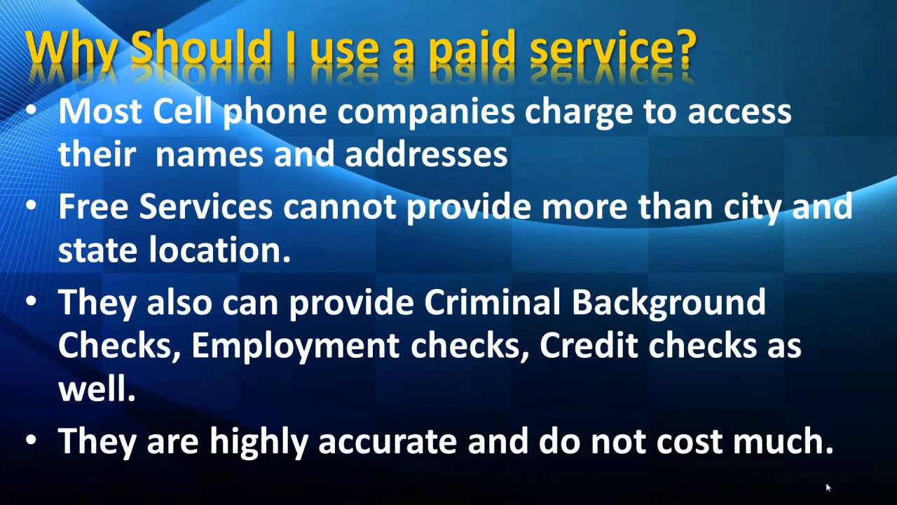 No Charge Cell Phone Trace