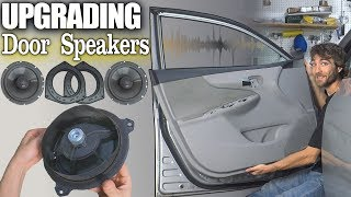 How To Install BETTER Door Speakers w/ NVX 6.5 Coaxial Speaker & Installing Aftermarket Adapter Ring