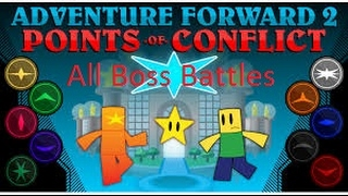 Roblox Adventure Forward 2 Points of Conflict All Bosses w/ Custom Music