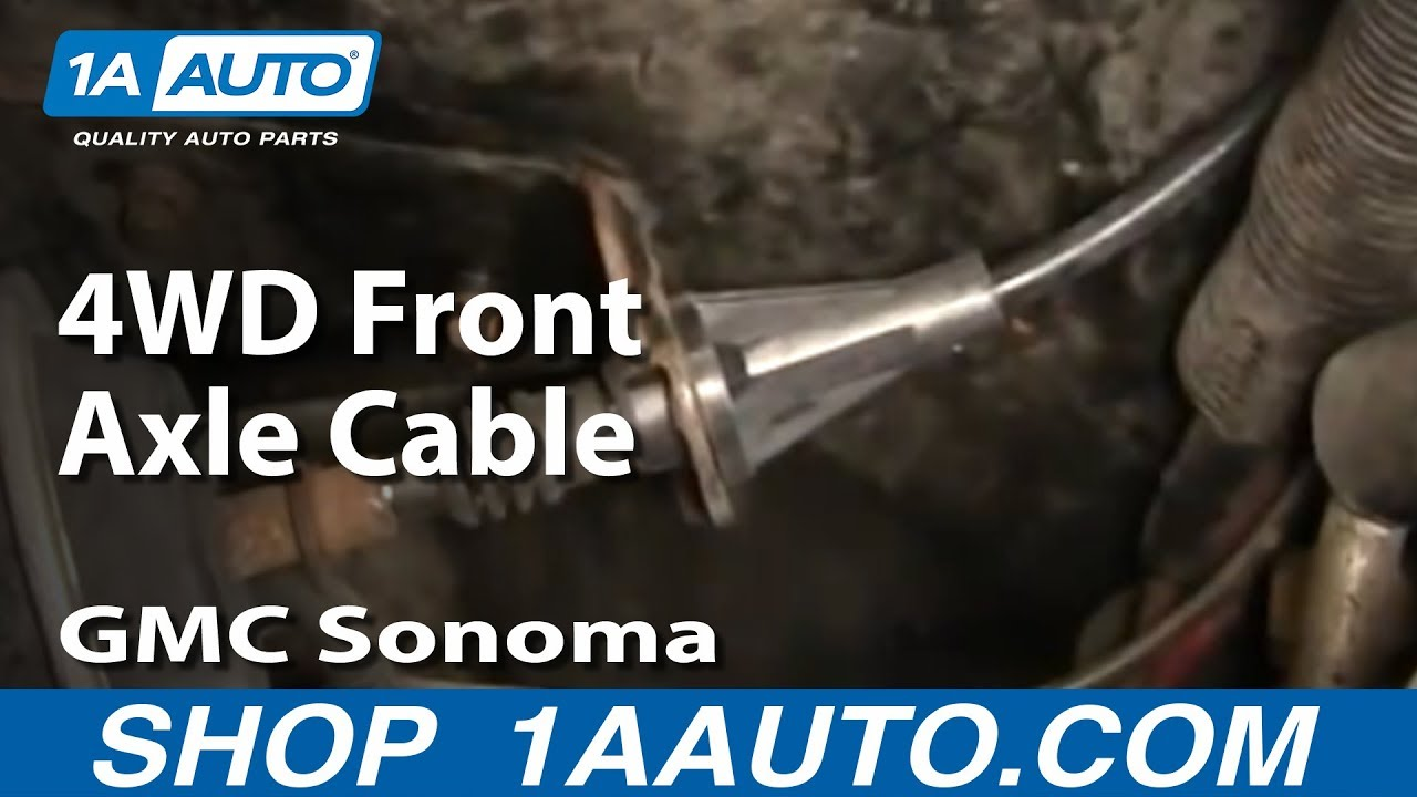 2002 chevy trailblazer front axle diagram old lennox thermostat wiring how to fix 4wd cable gmc sonoma blazer 1aauto.com - youtube