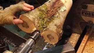 Turned Wood vase