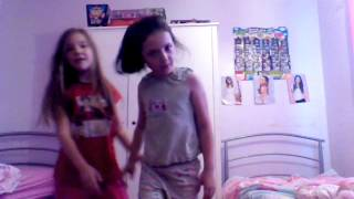 Me and my bff doing the crazy dance