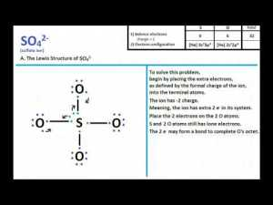SO4 2 Lewis Structure and Molecular Geometry  YouTube