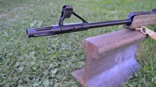 Стреляем по РЕЛЬСЕ пулеметным патроном из Калашникова