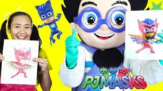 Toy Game Show - Romeo & Ellie Play 3 Marker Challenge with LOL Surprise, PJ Masks Owlette Colors