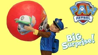 Paw Patrol Super Giant Toys Surprise Egg Unboxing Opening Fun With Chase Ckn Toys