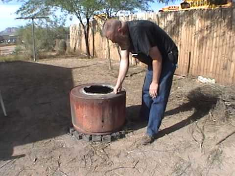 Our Fire Pit  Recycled Dryer Drum  YouTube