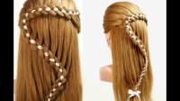 Hairstyles For Long Hair. 4 Strand Braid Hair With Ribbon ...