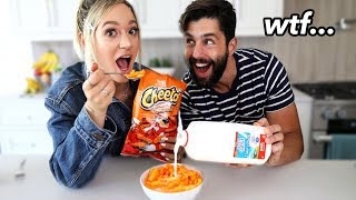 Trying Weird Food Combinations People Love w/ Josh Peck!