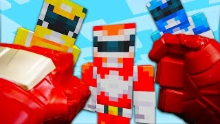 REALISTIC MINECRAFT - STEVE MEETS THE POWER RANGERS!
