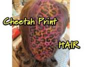 colorful cheetah print hair
