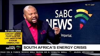 SA's energy crisis: Adil Nchabeleng