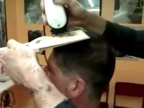 Cutting A Flat Top Haircut In Kiss Makeup Using A Flat Top
