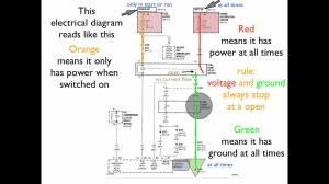 How to read an electrical diagram Lesson #1  YouTube