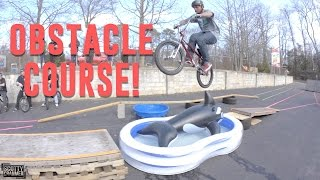 INSANE BIKE OBSTACLE COURSE!