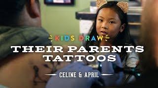Celine Designs Her Mom's First Tattoo | Kids Draw | Cut
