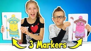 3 MARKER CHALLENGE!!!