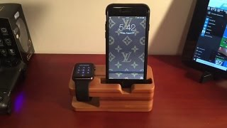 BEST APPLE WATCH & IPHONE DOCK!! Review (Jelly Comb Bamboo Charging Dock)