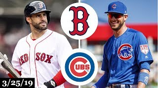 Boston Red Sox vs Chicago Cubs Highlights | March 25, 2019 | Spring Training