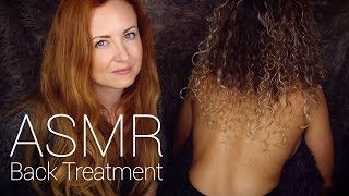 ASMR Back Tracing w/ Scratch, Brushing, Buds & Oil Massage