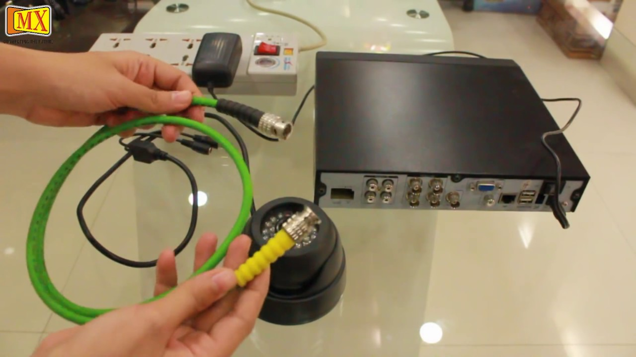 Analog Phone Wiring Diagram How To Connect Cctv Camera S To The Monitor Using Dvr