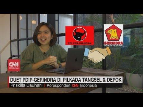 Duet PDIP-Gerindra di Pilkada Tangsel & Depok
