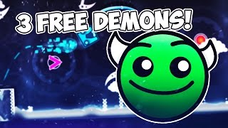 3 FREE DEMONS! [SECRET WAYS/HIDDEN ROADS] GEOMETRY DASH 2.1!