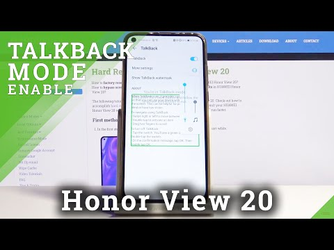 How to Enable TalkBack on Honor View 20 – Screen Reader