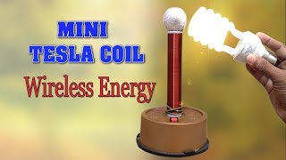 How to make Tesla Coil at home - Wireless Energy Transmission - DIY Homemade Mini Tesla Coil