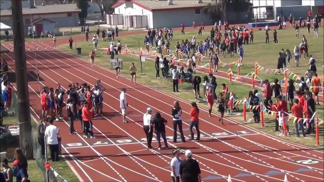 Fowler High School Track Meet 2012 Varsity Girls 3200