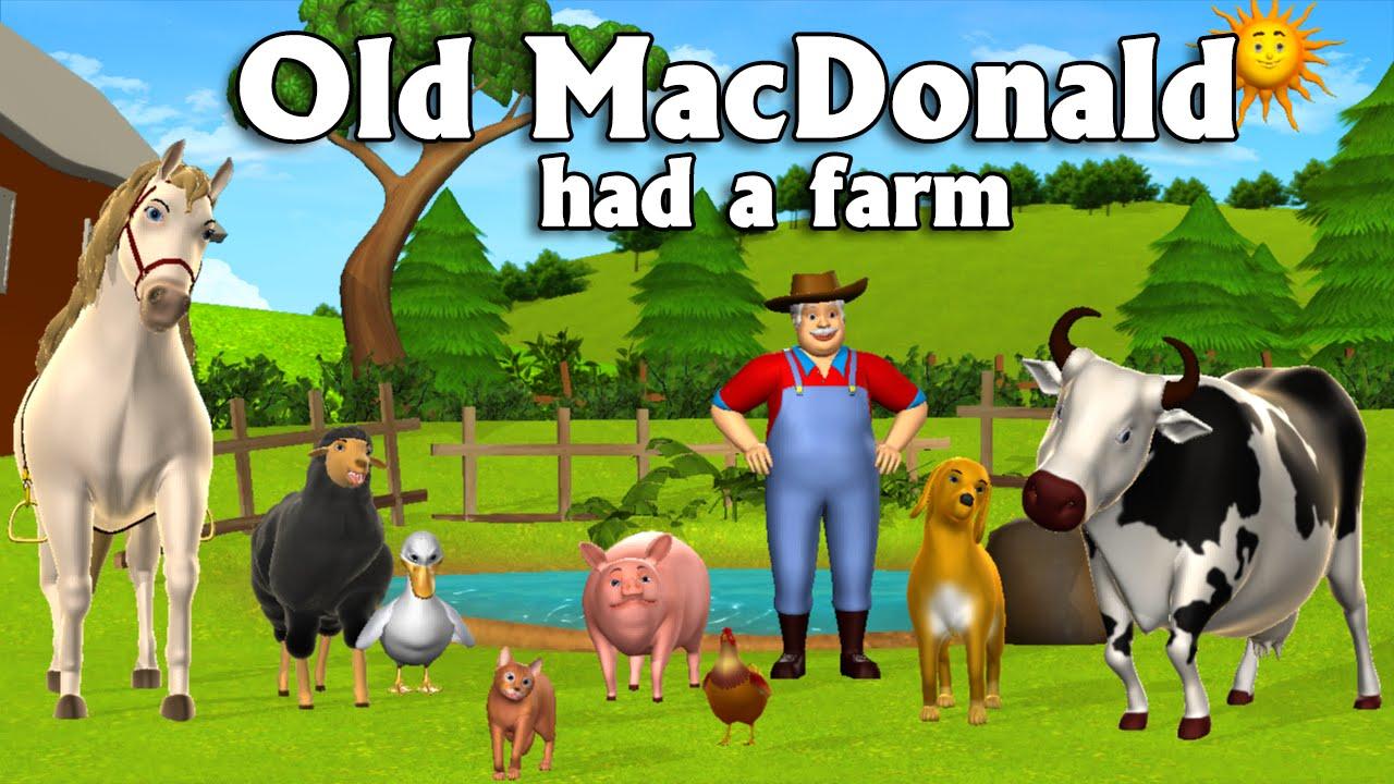 Old MacDonald Had A Farm - 3D Animation English Nursery ...