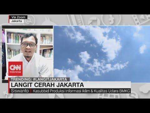 Ramai-ramai Pamer Langit Cerah Jakarta