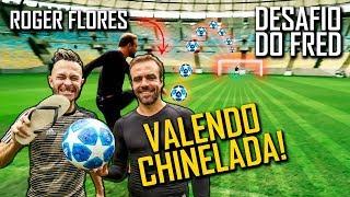 Desafio do Travessão do meio campo com Roger Flores