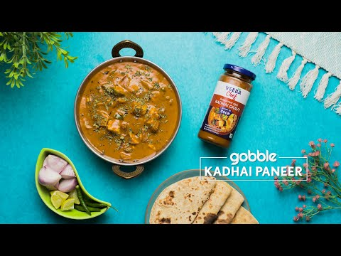Gobble | Kadhai Paneer | कढ़ाई पनीर | Restaurant Style Recipe At Home