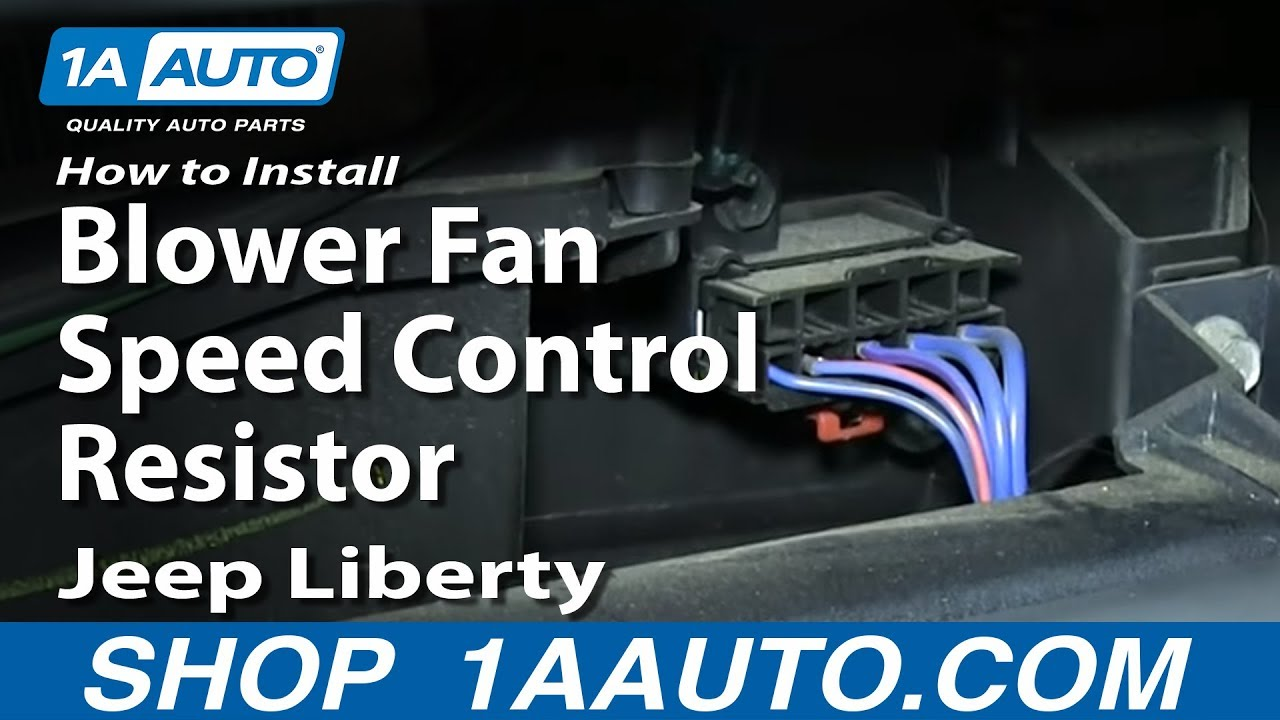 2010 Dodge Caravan Blower Motor Wiring Diagram How To Install Replace Blower Fan Speed Control Resistor