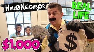 Last To Leave Hello Neighbor's House Wins $1,000 (FUNhouse Family)
