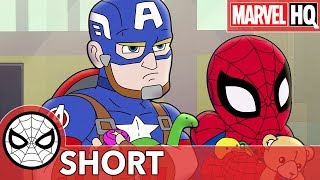 Spidey & Cap Take on a Toy Thief!   Marvel Super Hero Adventures - The Toys Are Back In Town   SHORT