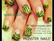 monster energy drink nail art