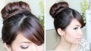 sock bun braid updo hairstyle